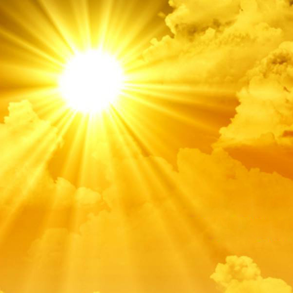 Thumbnail picture of the sun shining brightly.
